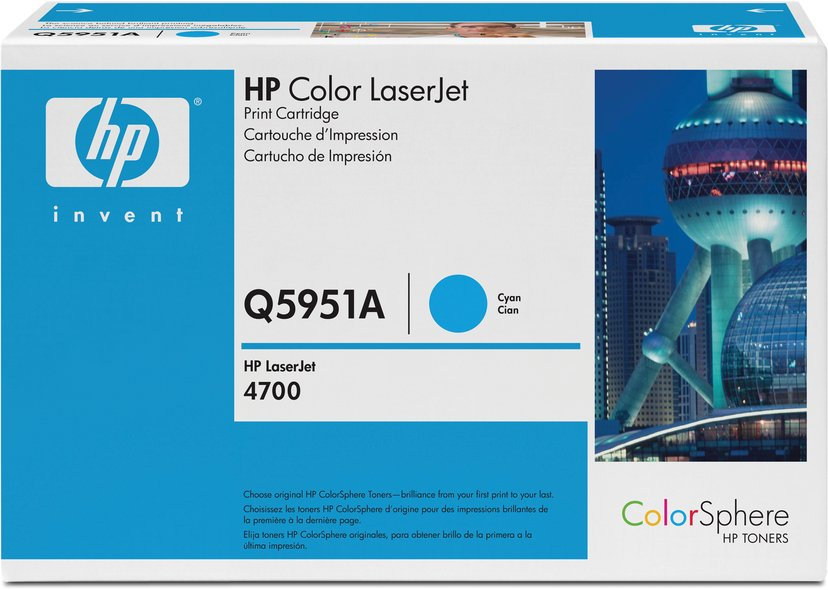 HP Toner Cyan 643A 11K - Q5951A