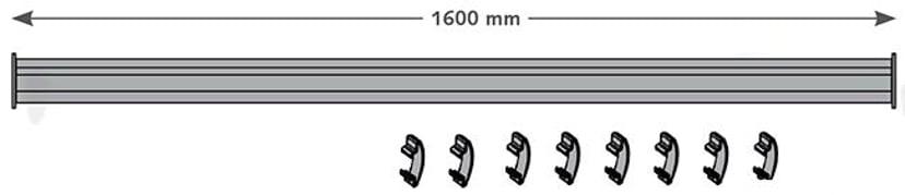 Kondator F-Profil 1600mm Inkl Kabel Clips - Conceptum