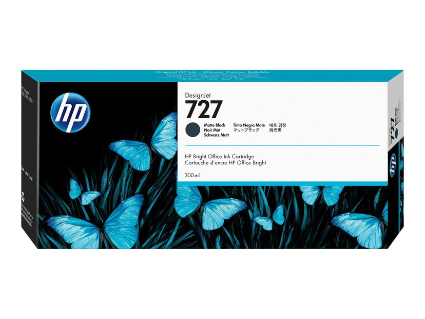 HP Blekk Matt Svart 727 300ml - DJ T1530