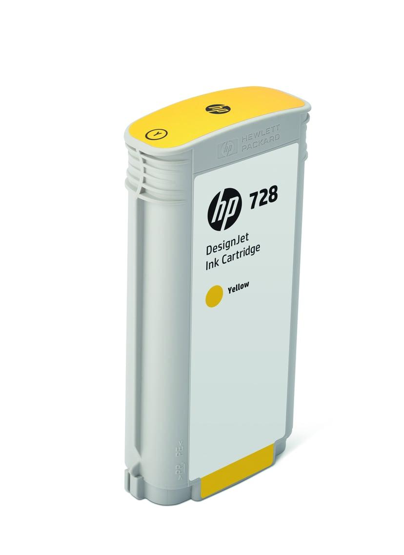 HP Blekk Gul 728 130ml - DJ T730