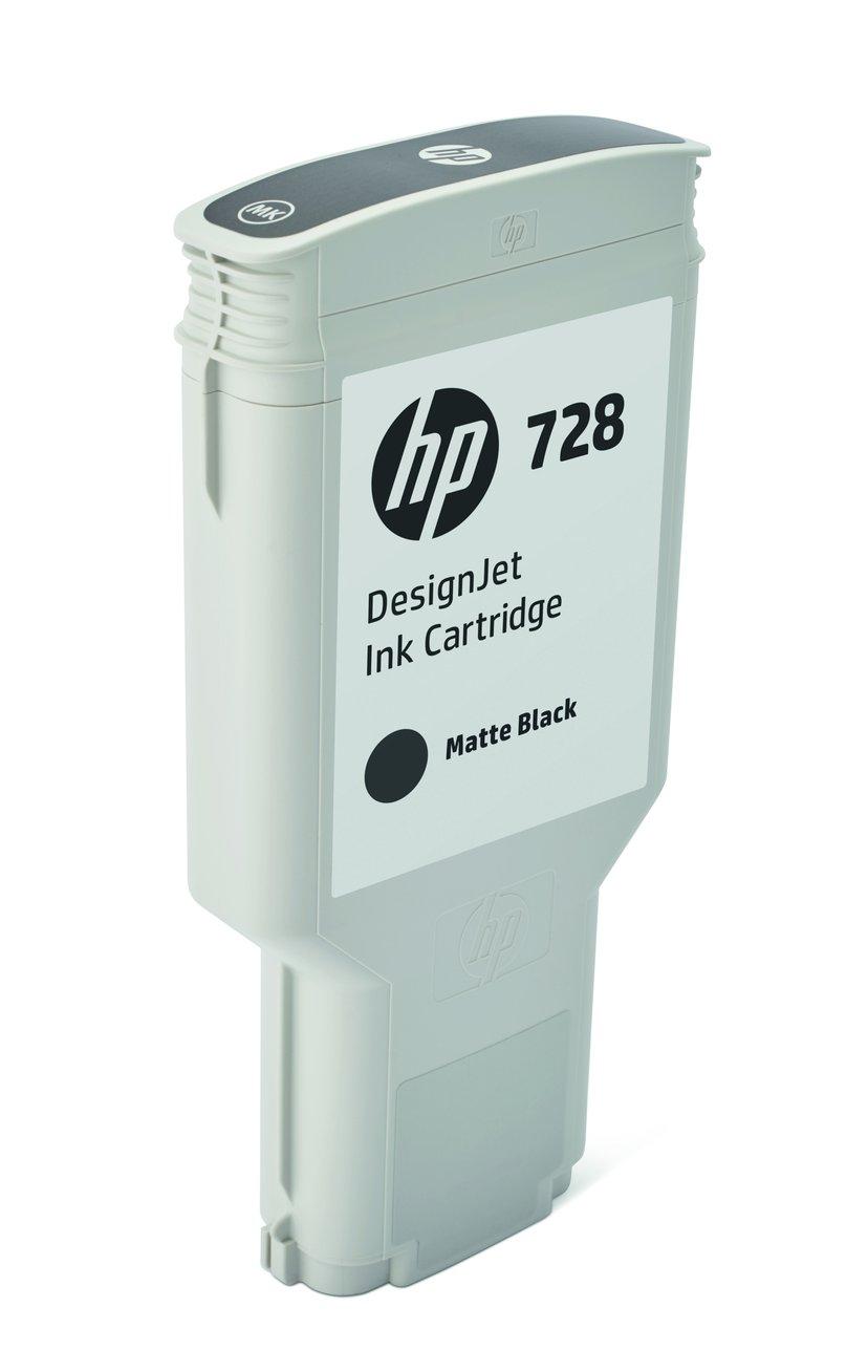 HP Blekk Matt Svart 728 300ml - DJ T730