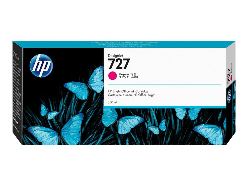HP Blekk Magenta 727 300ml - DJ 1530