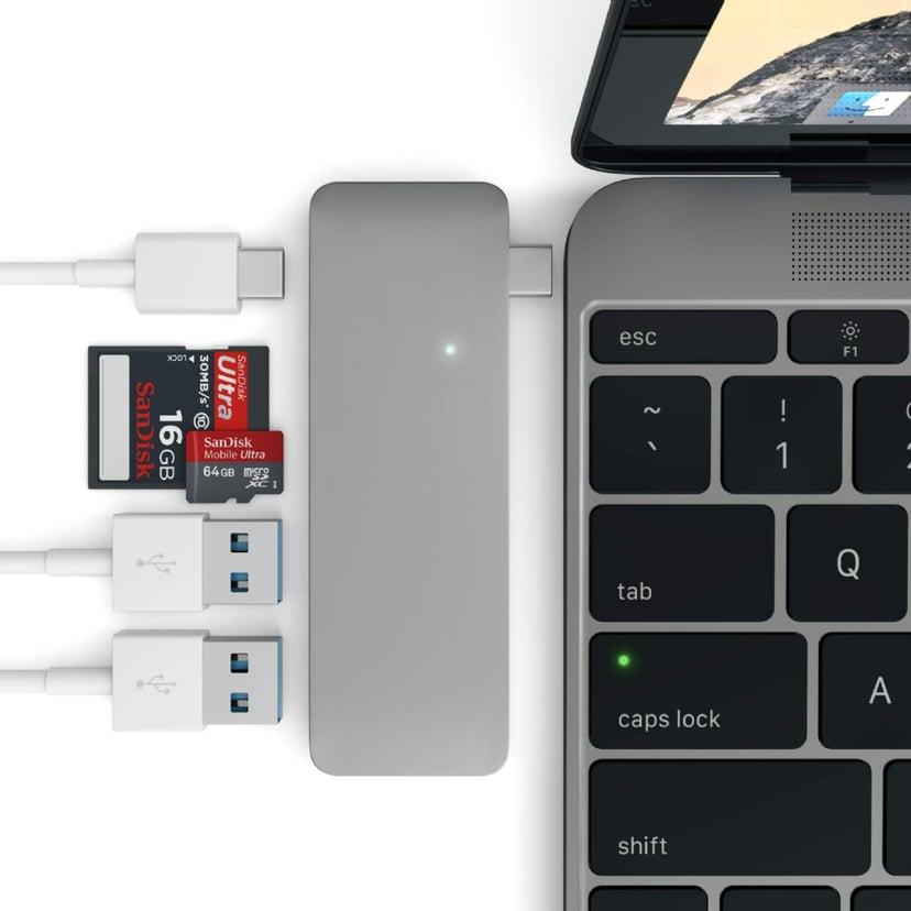 Satechi Type-C USB 3-in-1 Hub Space Gray