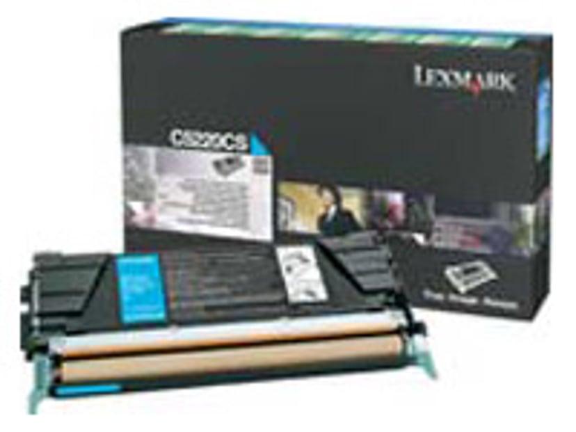Lexmark Värikasetti Syaani 3k C524/522N Return