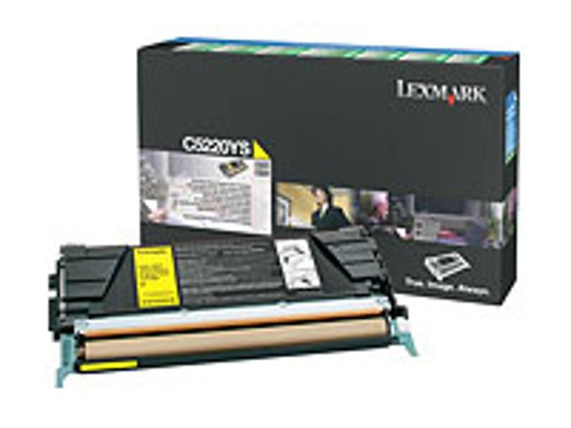Lexmark Värikasetti Keltainen 3k C524/522N Return