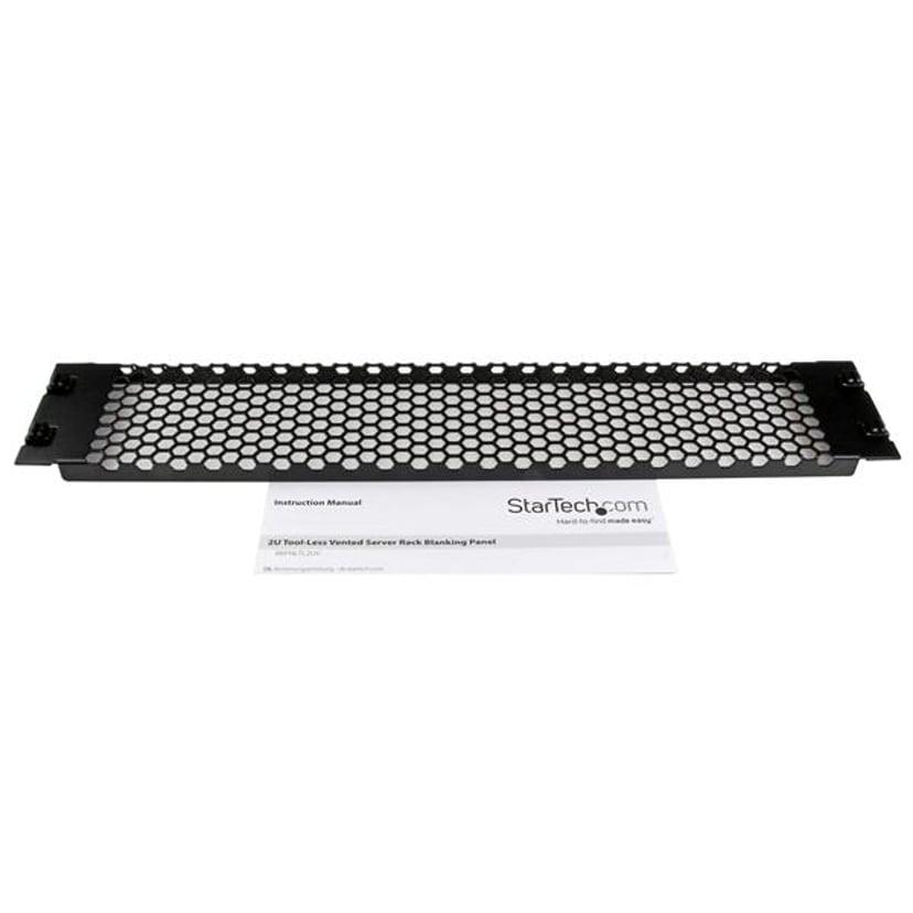 Startech 2U Tool-Less Vented Blank Rack Panel