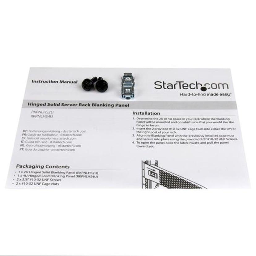 Startech 4U Solid Blank Panel with Hinge