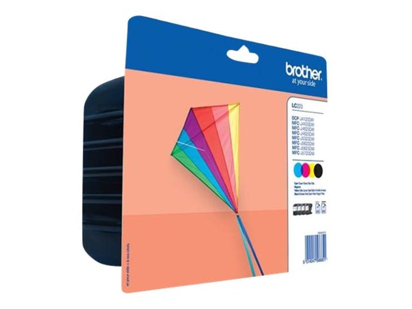 Brother Inkt Kit (BK/C/M/Y) LC-223 - DCP-J4120/J562/MFC-J4420