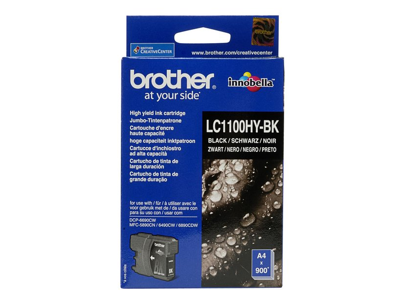 Brother Inkt Zwart LC1100HYBK - DCP6690CW/MFC6490CW