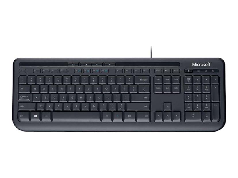 Microsoft Wired Keyboard 600 Tangentbord Kabelansluten Engelska Svart
