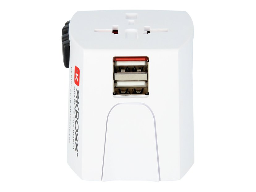 Skross World Adapter MUV USB 2,4A Hvit