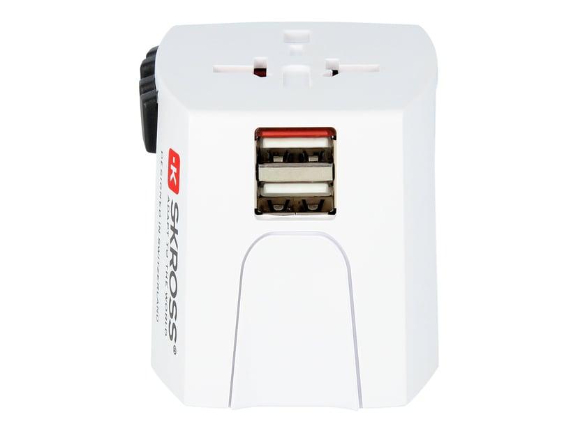 Skross World Adapter MUV USB 2,4A Vit