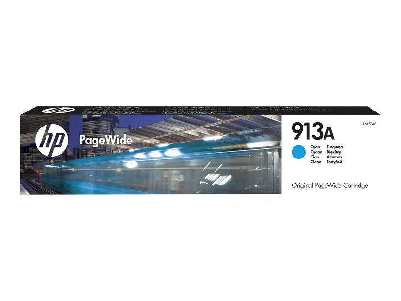 HP Bläck Cyan 913A 3k - PW 377/452/477/552