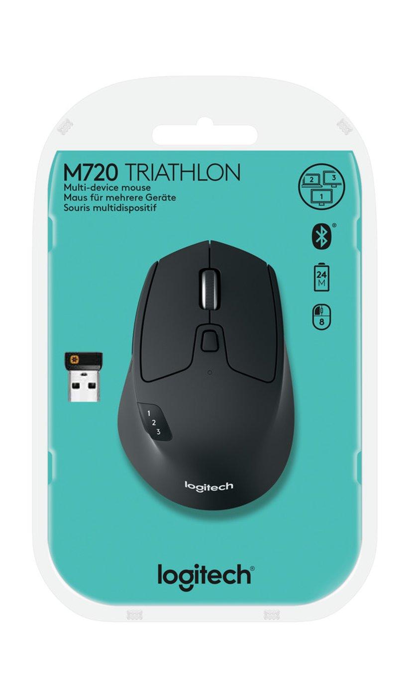 Logitech M720 Triathlon Wireless Musta Hiiri Langaton 1,000dpi