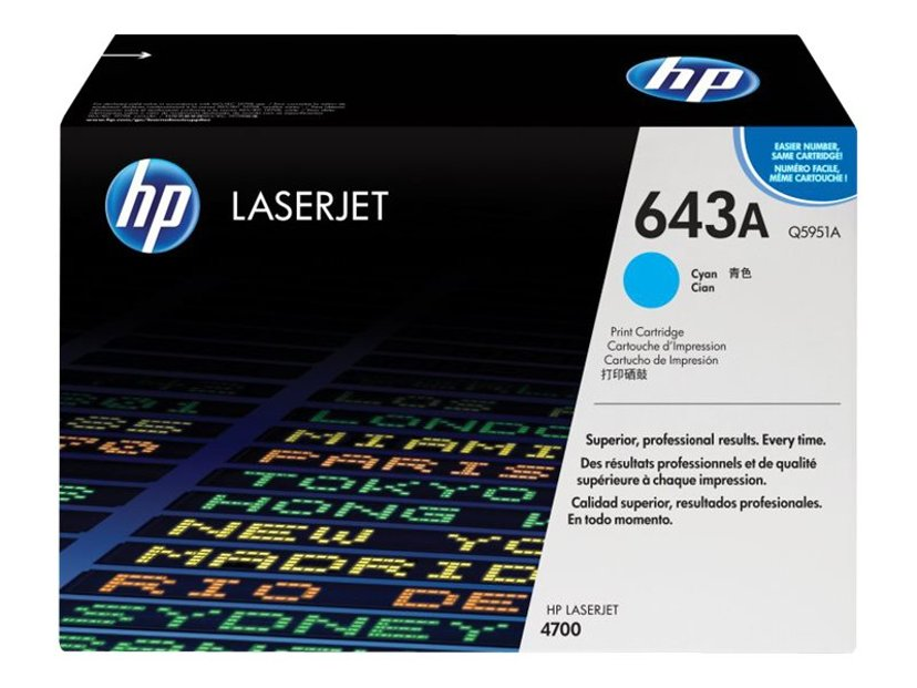 HP Värikasetti Syaani 643A 11K - Q5951A