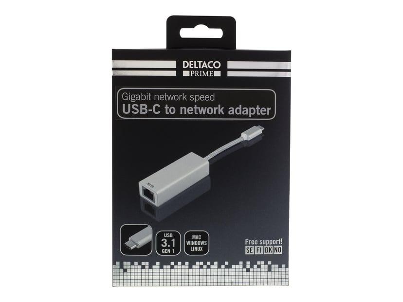 Deltaco USB-C Gigabit Network Adapter