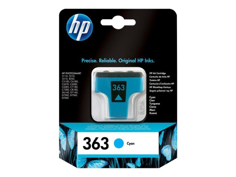 HP Blekk Cyan No.363 PS 8250 4ml
