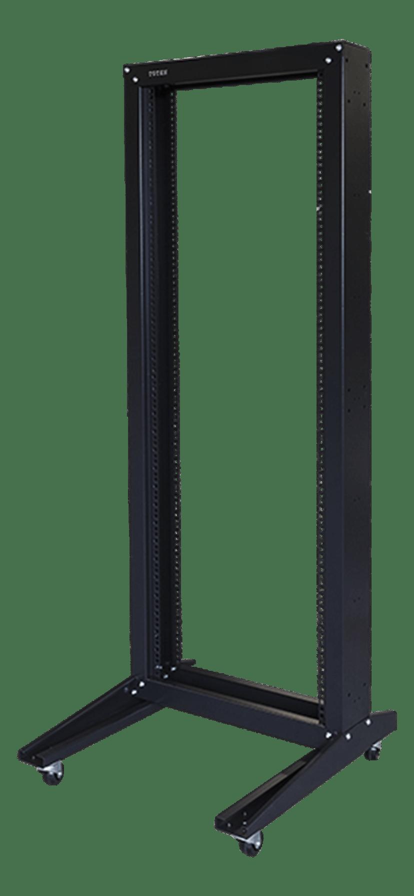 "Toten 19"" Golvstativ Open Frame 32U 600X600 Hjul Svart"