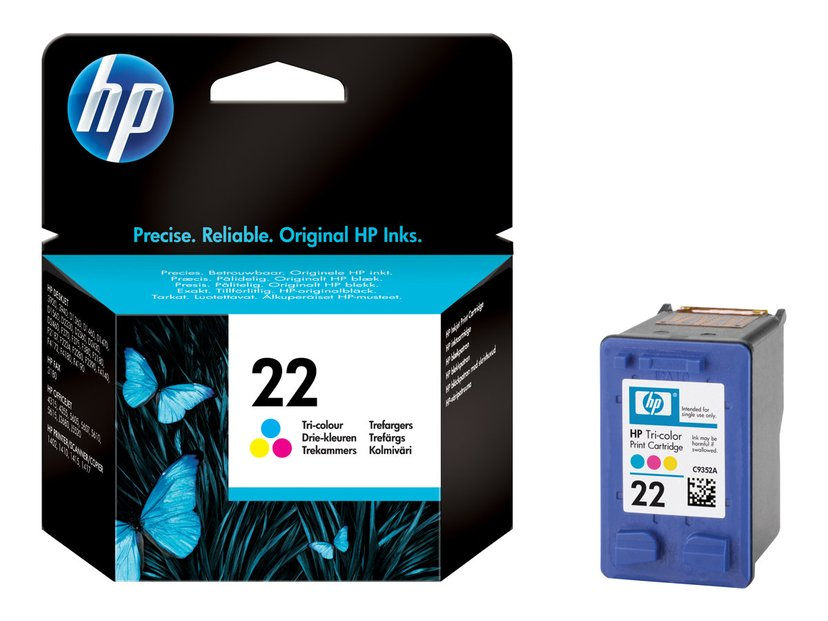 HP Blekk Farge No.22