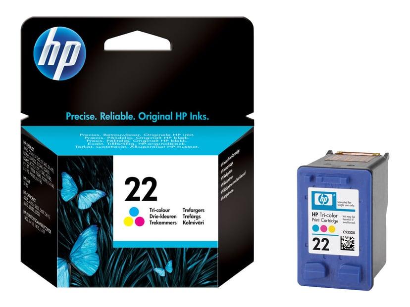 HP Muste Väri No.22