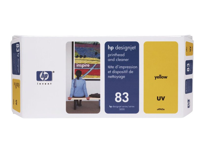 HP Printhead/Cleaner No.83 Gul - DJ5000