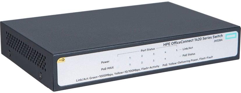 HPE OfficeConnect 1420 5xGbit, PoE+ 32W Un-mgd Switch