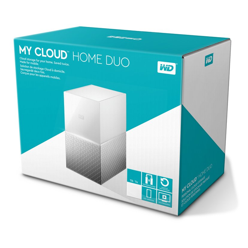 WD My Cloud Home Duo 12TB Personlig skylagringsenhet
