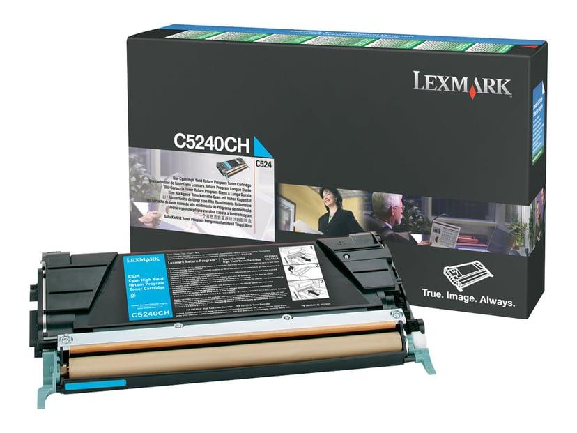 Lexmark Värikasetti Syaani 5k C524 Return