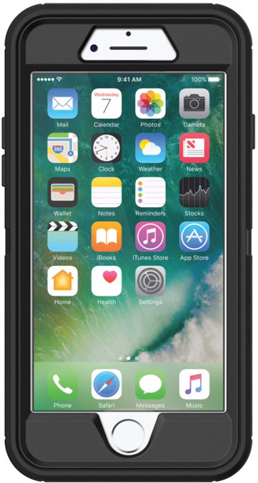 Otterbox Defender Series iPhone 7, iPhone 8, iPhone SE (2020) Musta