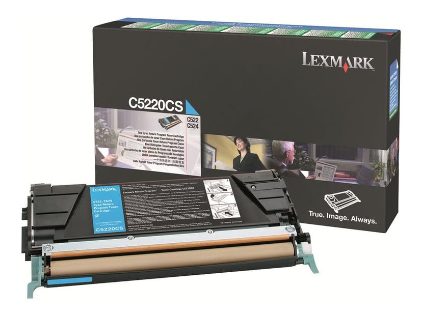 Lexmark Toner Cyan 3k C524/522N Return