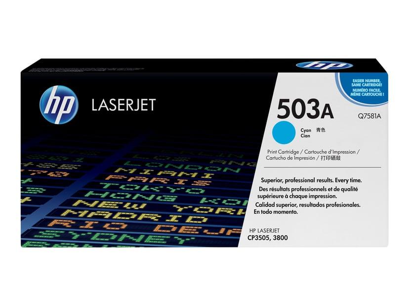 HP Värikasetti Syaani 503A 6K - Q7581A