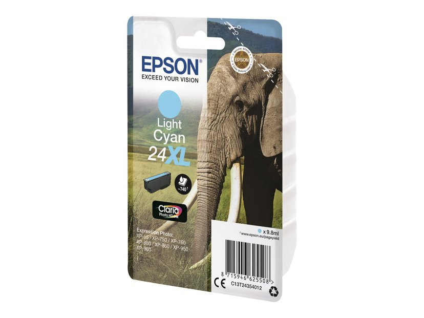 Epson Inkt Ljus Cyaan 24XL - XP-750/XP-850/XP-950