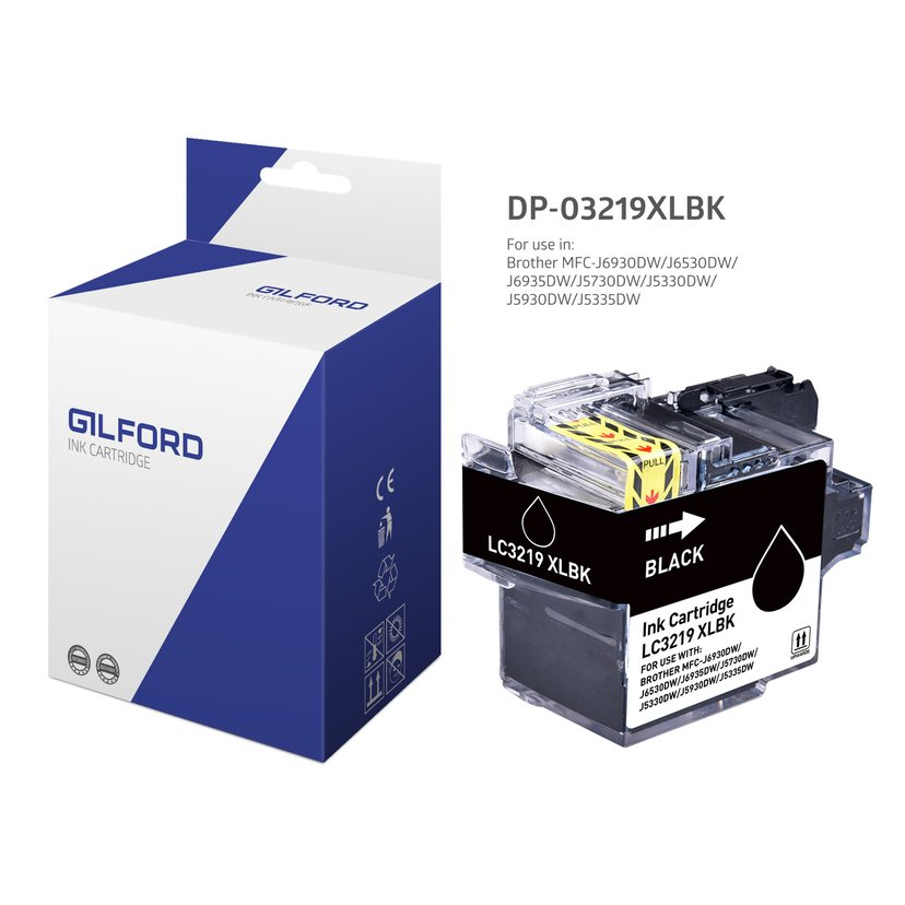 Gilford Inkt Zwart DB-3219Xlbk - MFC-J5330/MFC-J6930dw
