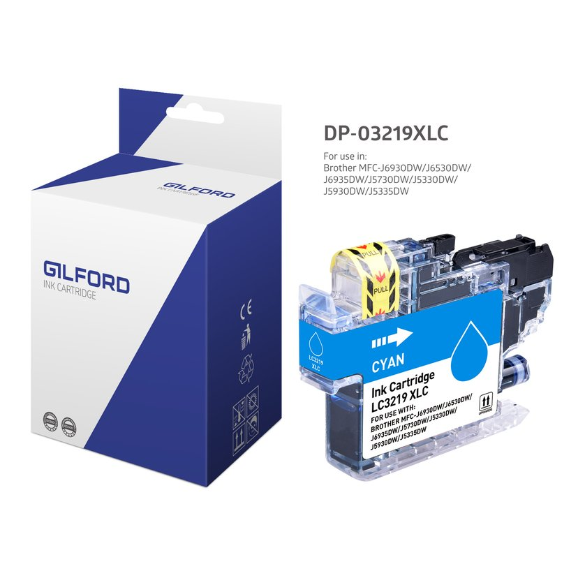 Gilford Inkt Cyaan DB-3219Xlc - MFC-J5330/MFC-J6930dw