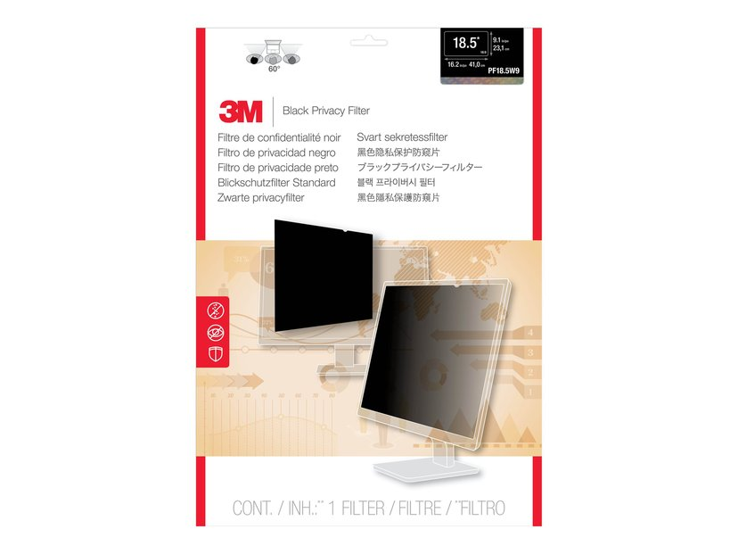 """3M LCD Privacy Computer Filter PF18.5W 18,5"""" bred 16:9"""