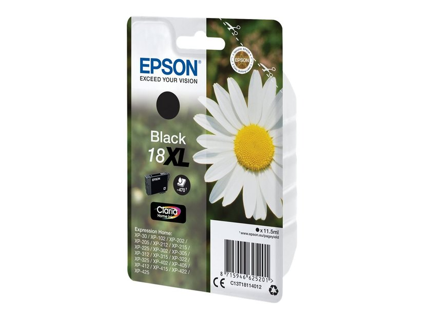 Epson Inkt Zwart 18Xl 11,5ml - Xp-302