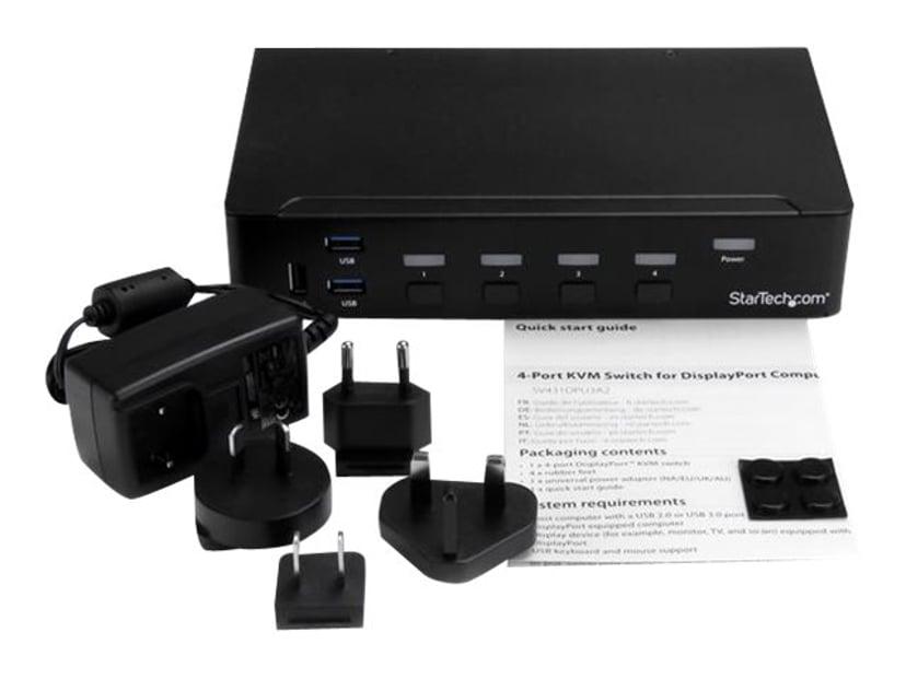 Startech 4-Port DisplayPort KVM Switch With Built-in USB 3.0 Hub