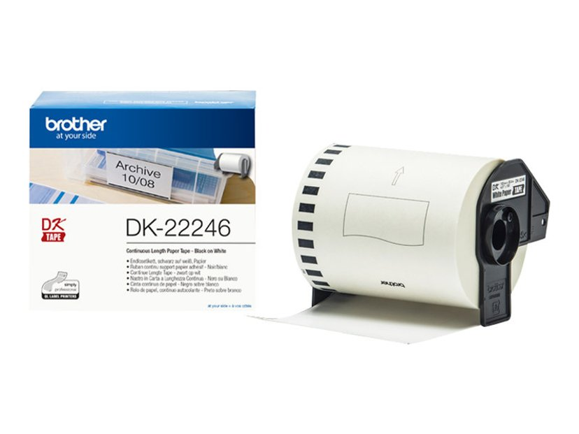 Brother Tape Paper DK-22246 103mm x 30.48m White