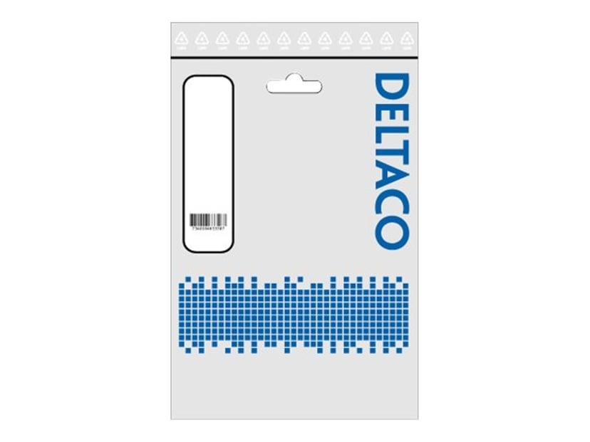 Deltaco Strömkabel 0.5m Eurokontakt (ström CEE 7/16) Hane Ström IEC 60320 C7