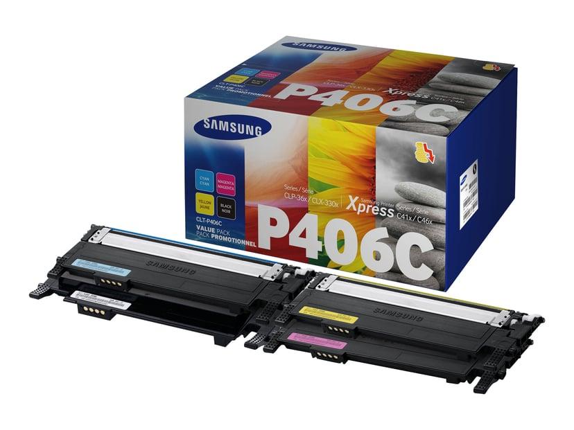 HP Samsung Toner Kit Value Pack (BK/C/M/Y) CLT-P406C