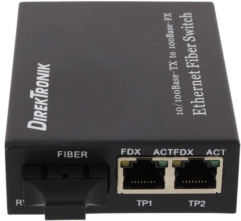 Direktronik 33-4741 Fibermedieomformer RJ-45 SC flermodus
