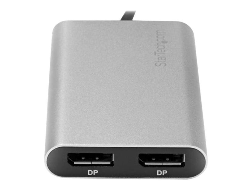 Startech Thunderbolt 3 to Dual DisplayPort Adapter Zilver, Zwart