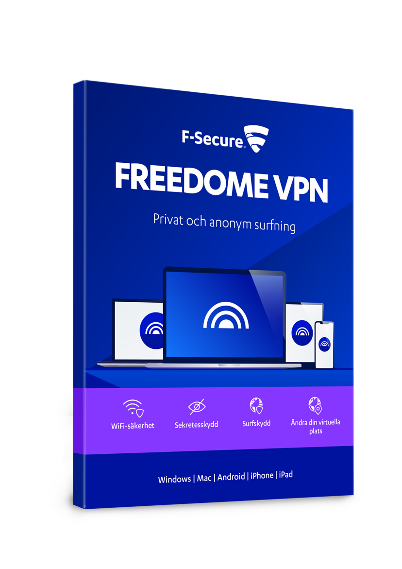 F-Secure F-Secure Freedome VPN 1 år Prenumeration 5-användare PKC