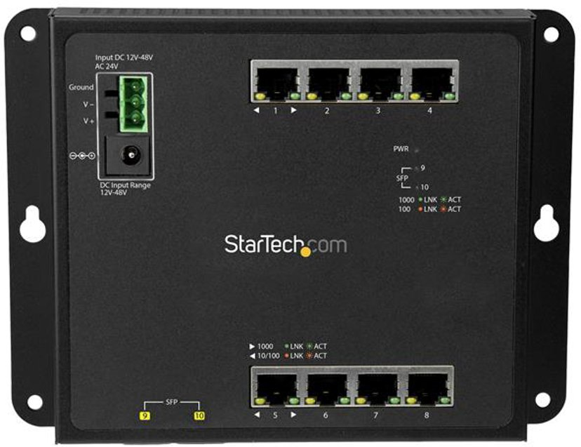 Startech 8 Port Gigabit Ethernet Switch with 2 Open SFP Slots