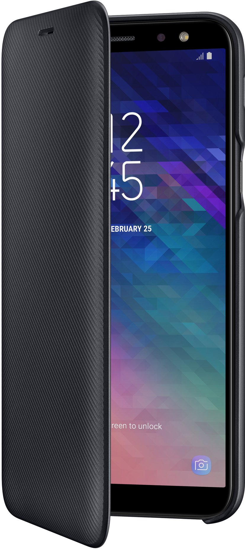 Samsung Wallet Cover Samsung Galaxy A6 Sort