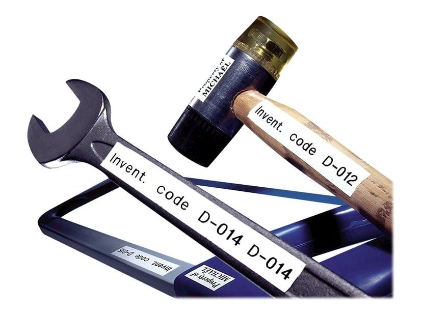 Dymo Tape D1 19mm Sort/Hvid Flexible