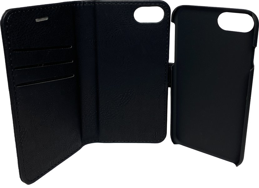 Cirafon Wallet Book Magnet iPhone 6/6s, iPhone 7, iPhone 8, iPhone SE (2020) Svart lær