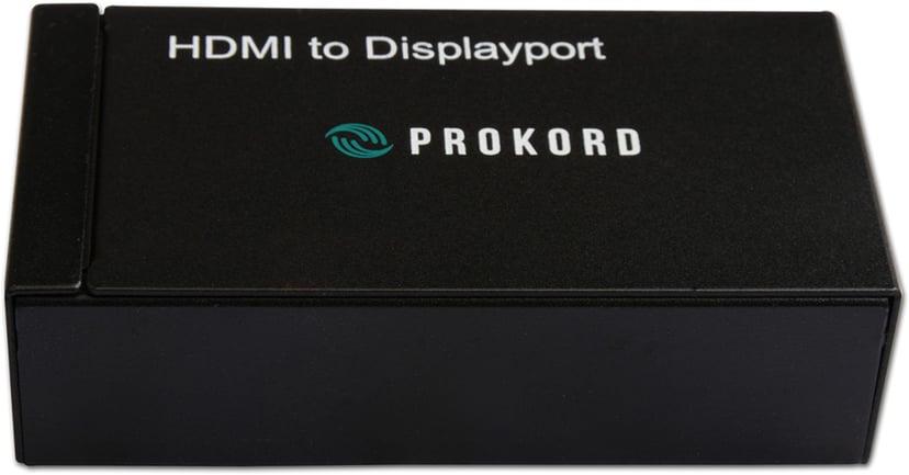 Prokord HDMI - Displayport Adapter 1920X1200p HDMI Hun DisplayPort Hun Sort