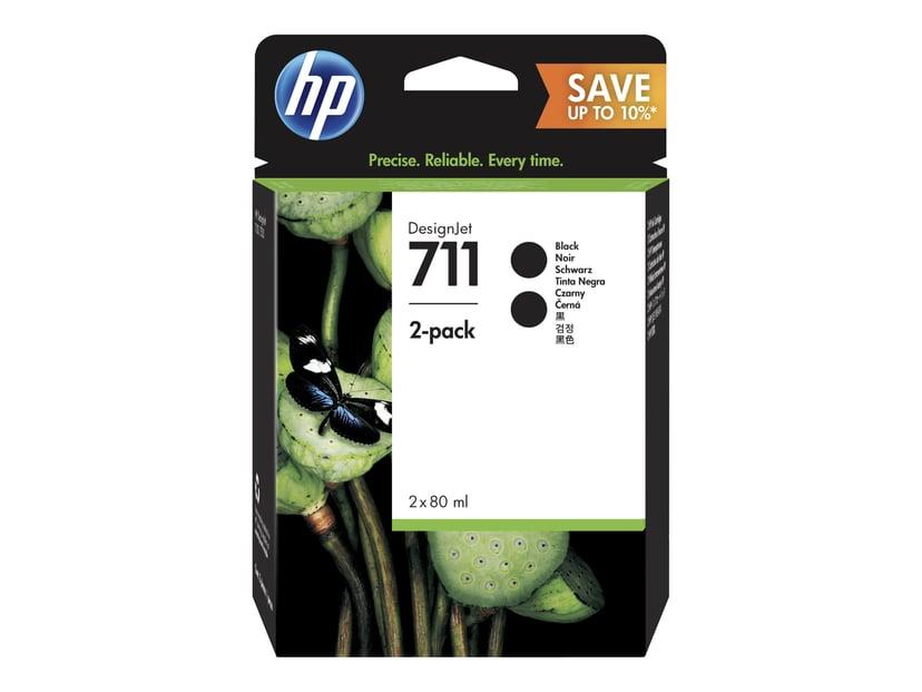 HP Bläck Svart 711 80ml 2-Pack - DJ T120/T520