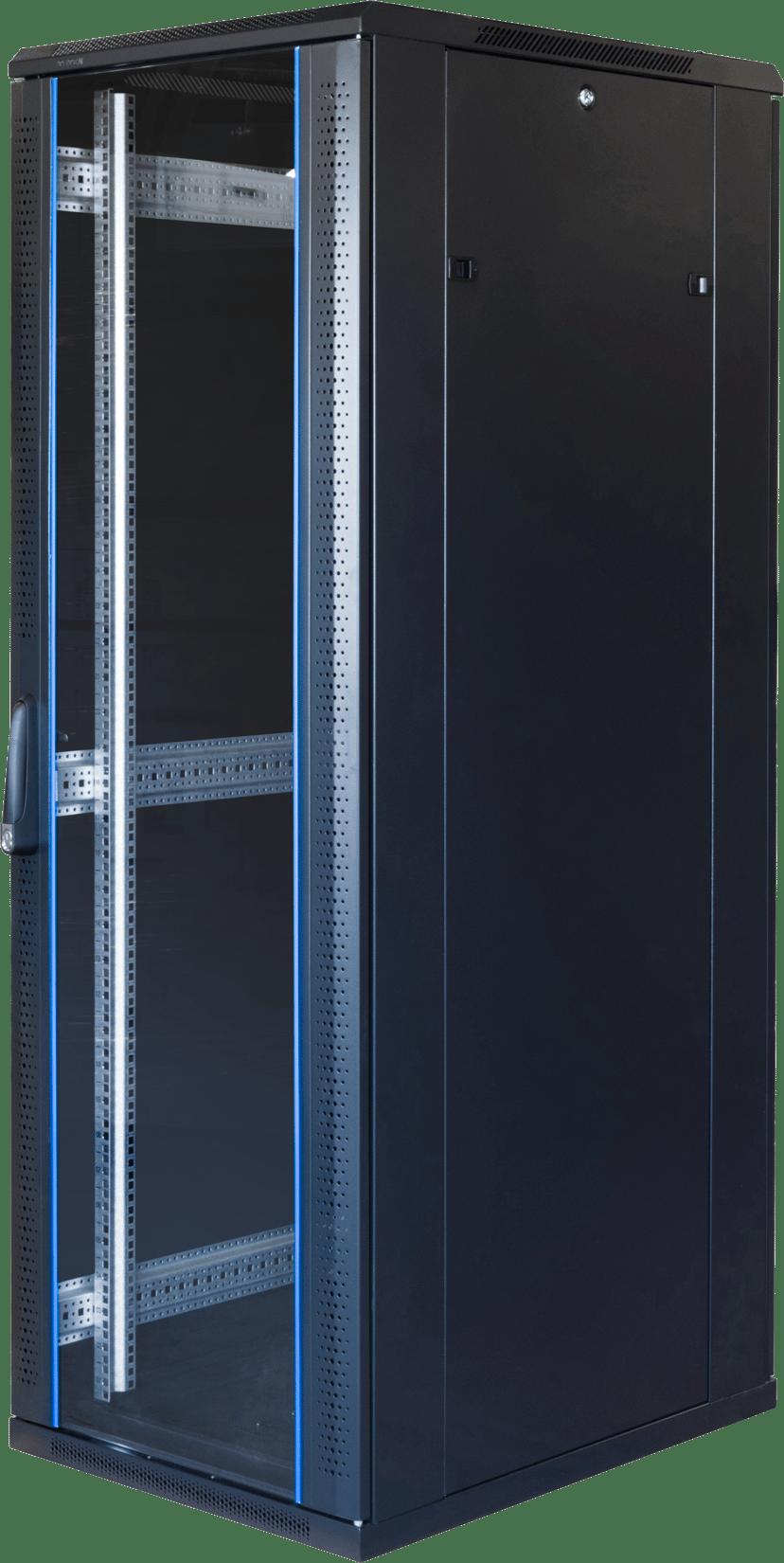 "Toten G6 19"" Rackskap 37U 600x800 Glass/Perforert Dør"